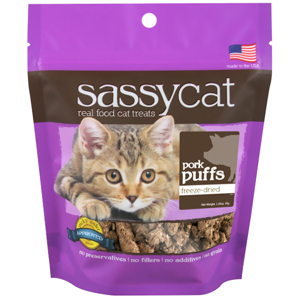 Herbsmith Sassy Cat Treats - Pork Puffs