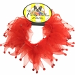"""Holiday Party Collar - Red Rhinestones - Small (10"""")"""