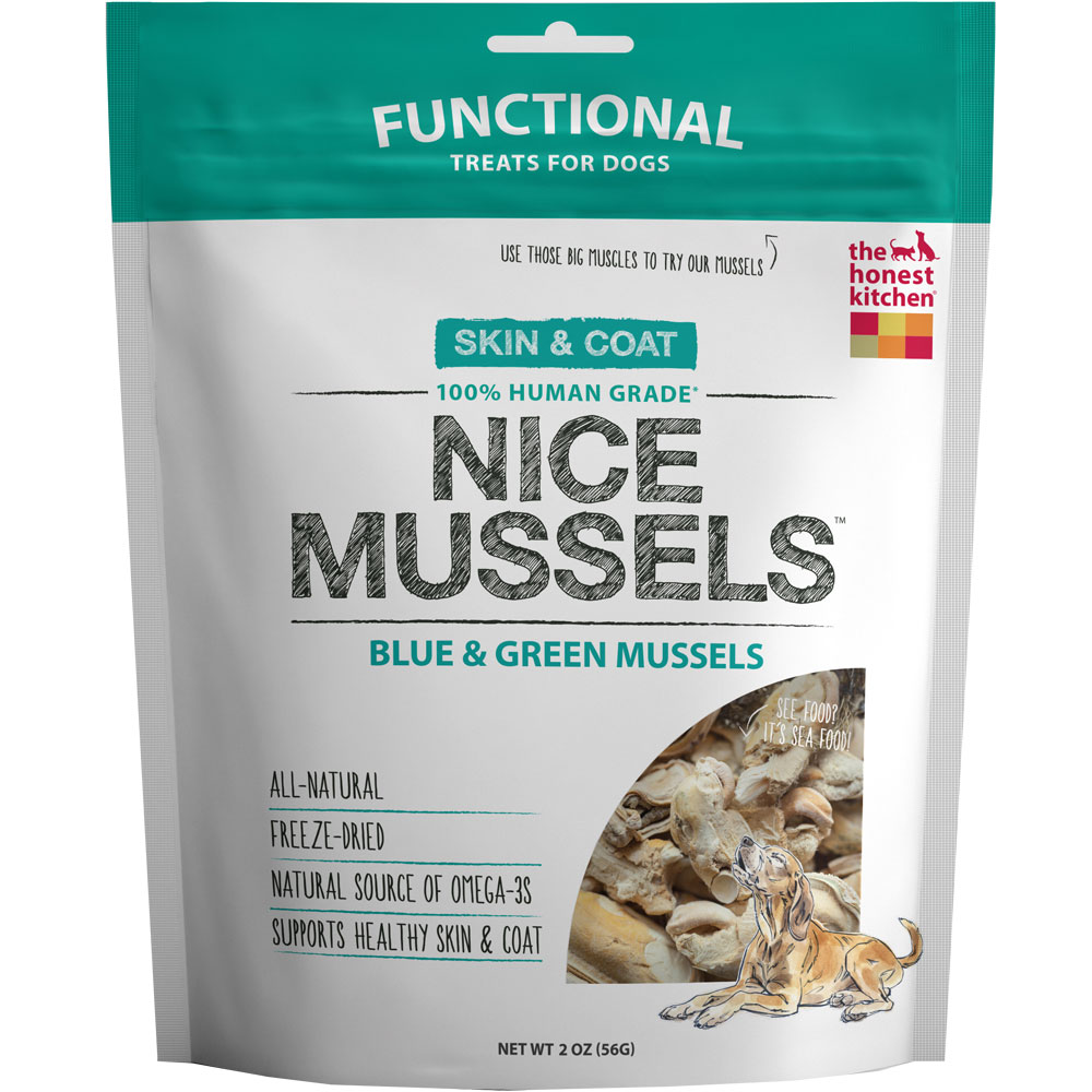 Honest Kitchen Nice Mussels - Freeze Dried Blue & Green Mussels (2 oz)