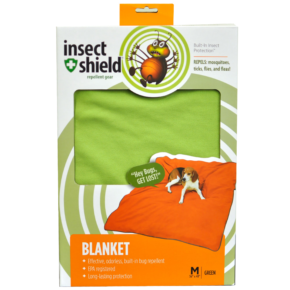 "Insect Shield Blanket 56""x48"" - Green"
