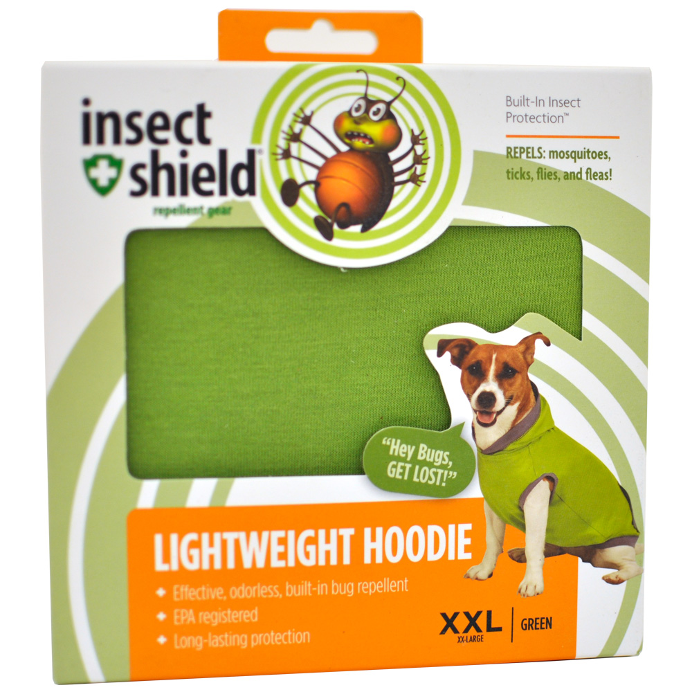 Insect Shield Lightweight Hoodie XXLarge - Green