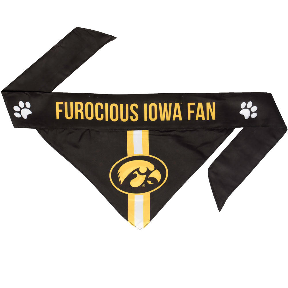 Iowa Hawkeyes Dog Bandana - Tie On (Large)