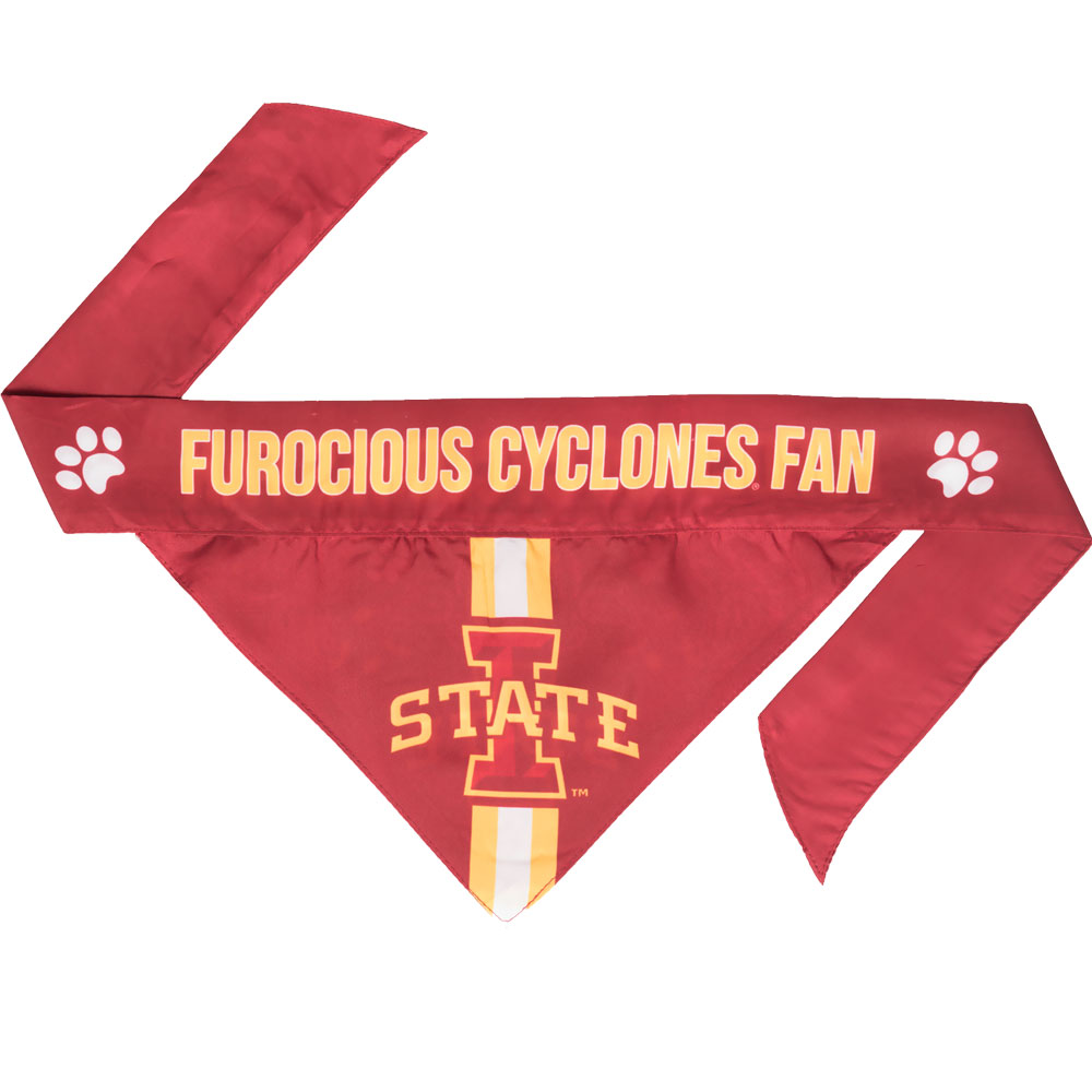 Iowa State Dog Bandana - Tie On (Small)