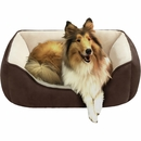 "JLA Pets Buster Reversible Rectangular Cuddler - Chocolate/Brown (24x34"")"