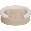 "JLA Pets Lucky Oval Cuddler with Cushion - Tan/Ivory (21x27"")"