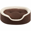 "JLA Pets Milo Oval Cuddler with Cushion - Tan (21x27"")"