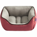 "JLA Pets Sparky Reversible Rectangular Cuddler - Red (21x25"")"