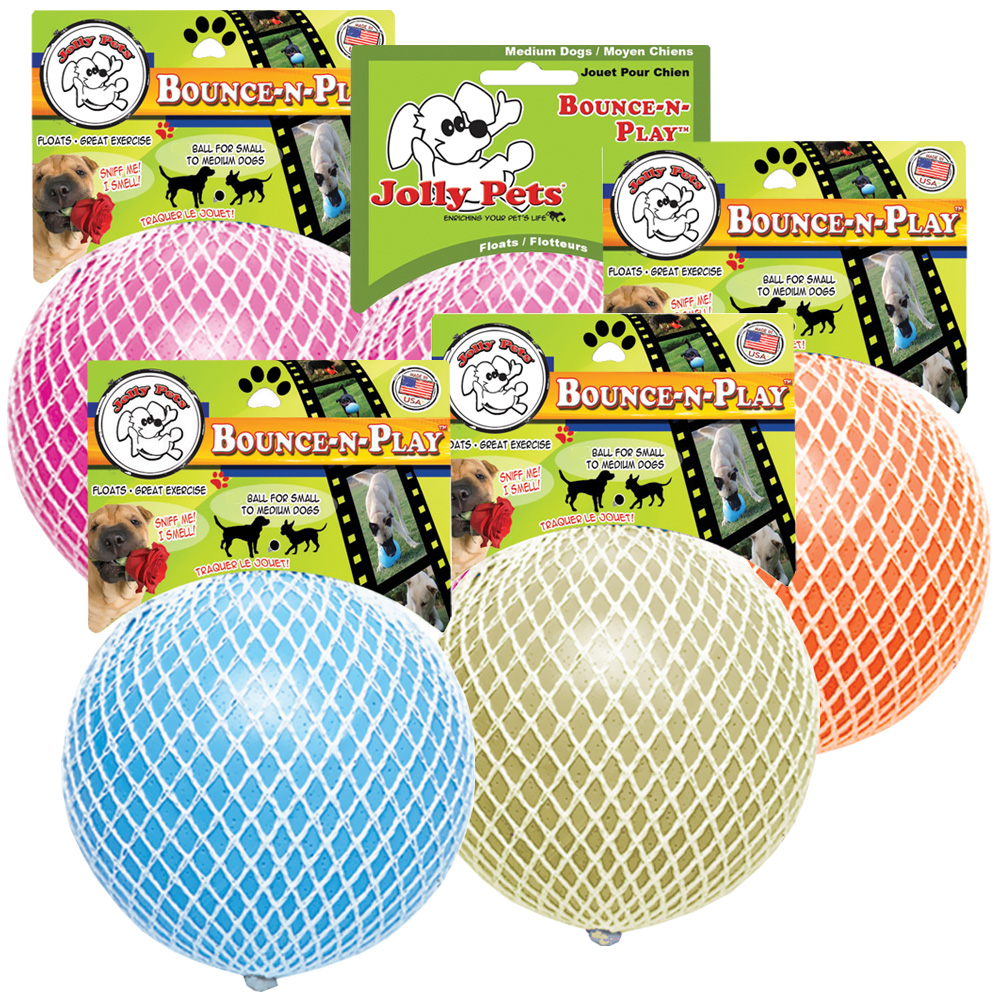 """Jolly Pets Jolly Bounce-N-Play Dog Toy 6"""" - Assorted"""
