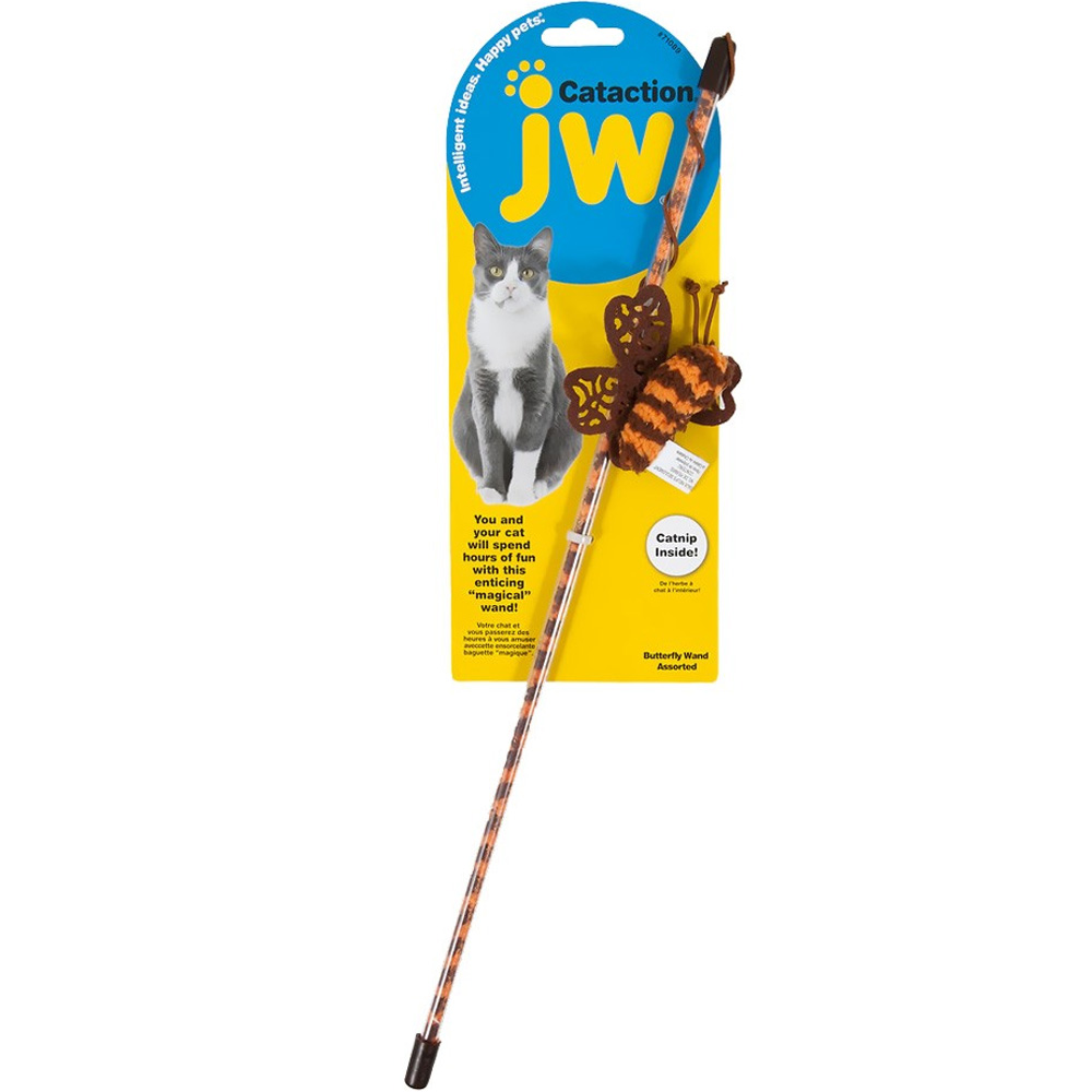 JW Pet Cataction Butterfly Wand