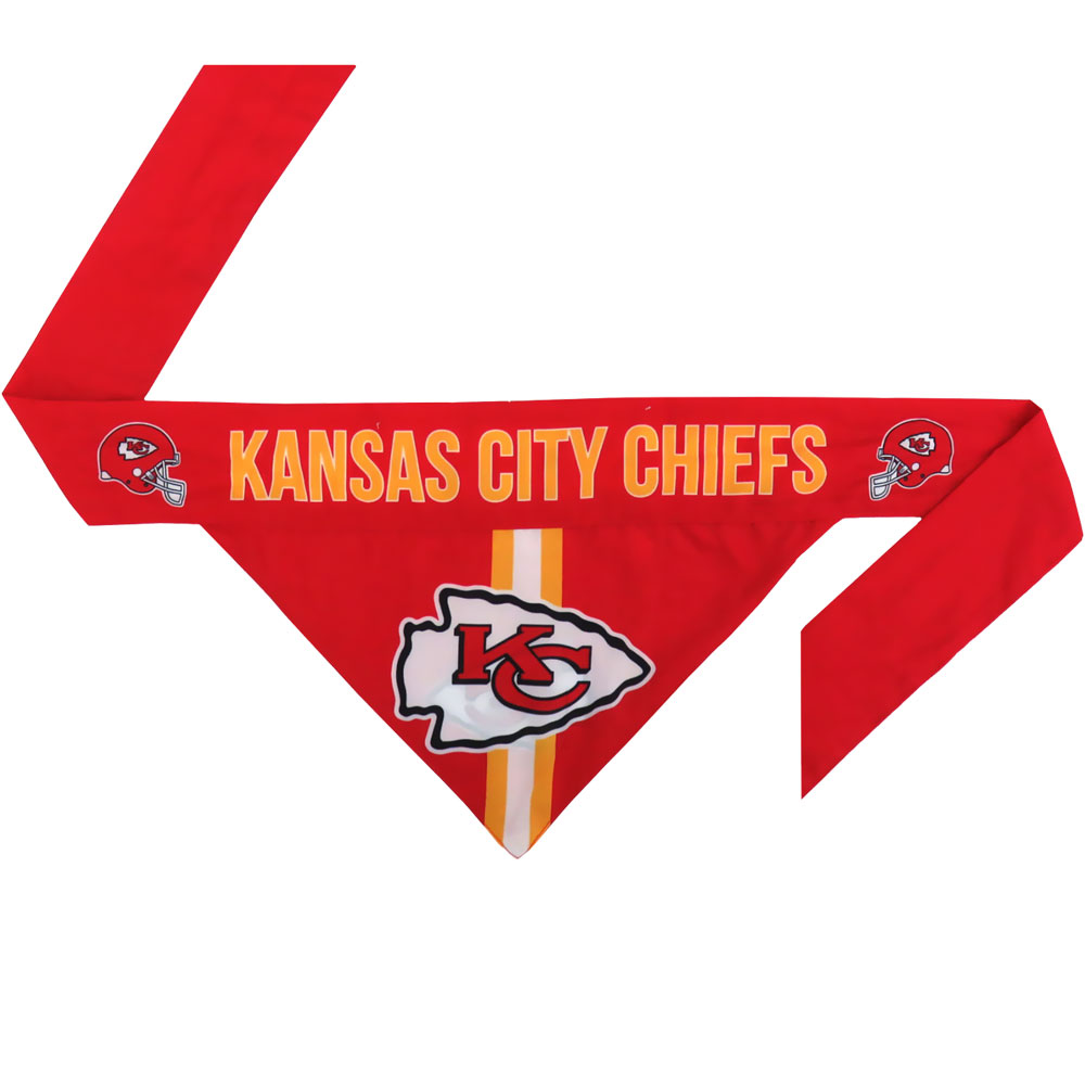 Kansas City Chiefs Dog Bandana - Tie On (Large)