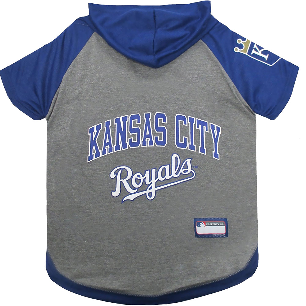 Kansas City Royals Dog Hoody Tee Shirt - Large