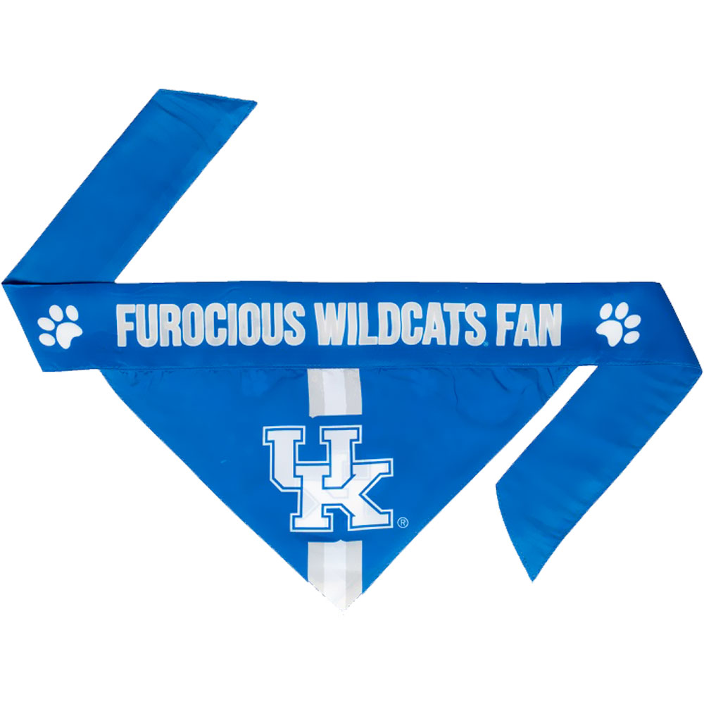 Kentucky Wildcats Dog Bandana - Tie On (Large)