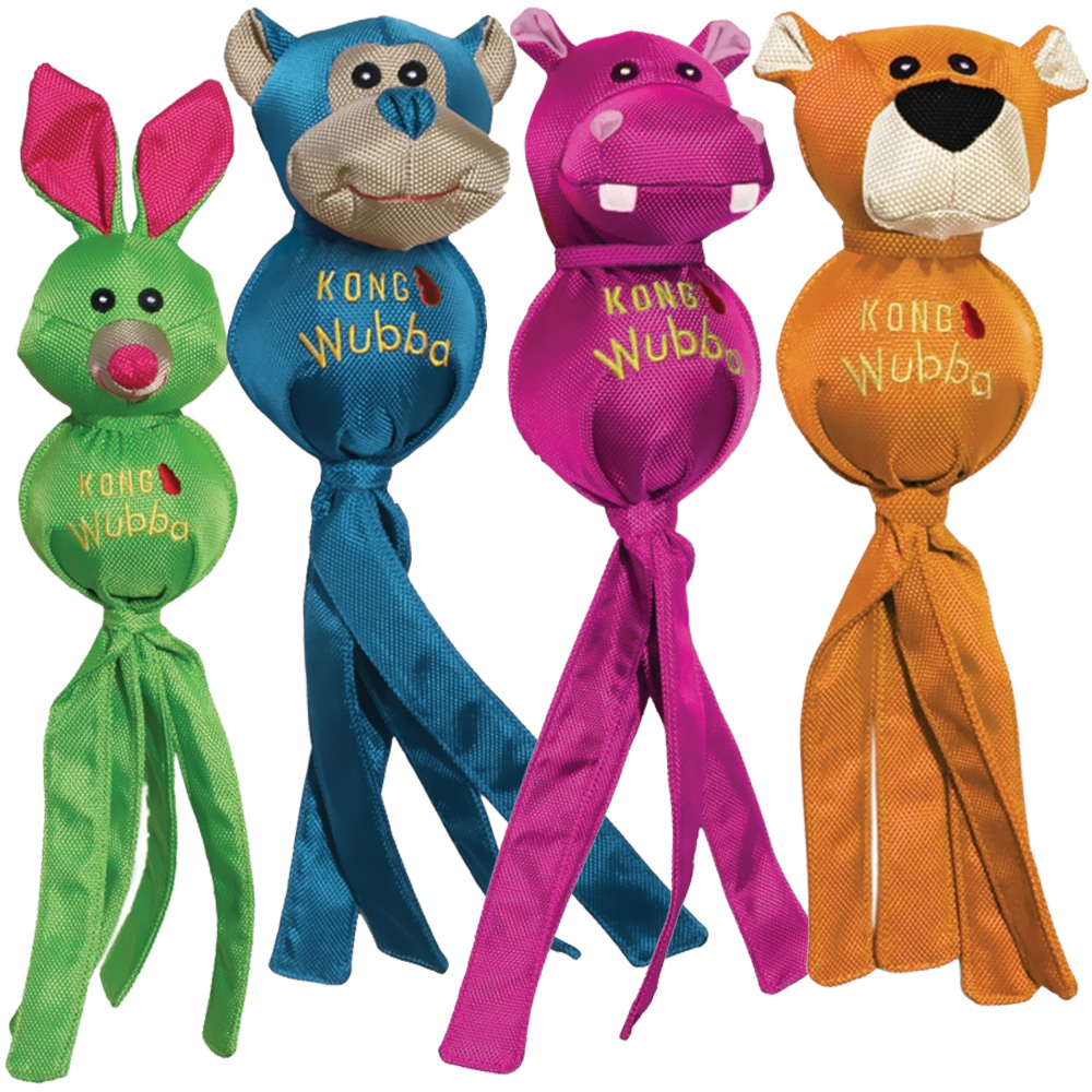 KONG Wubba Ballistic Friends Dog Toy - Large (Assorted)