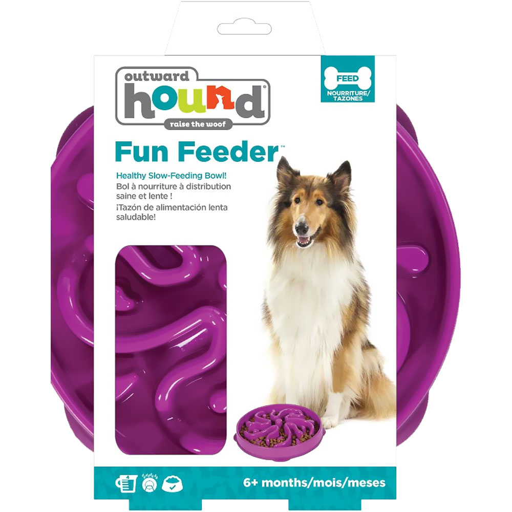 Outward Hound Fun Feeder Flower - Purple