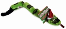 Kyjen Invincibles 6 Squeak Snake w/ Santa Hat  (Green/Black )