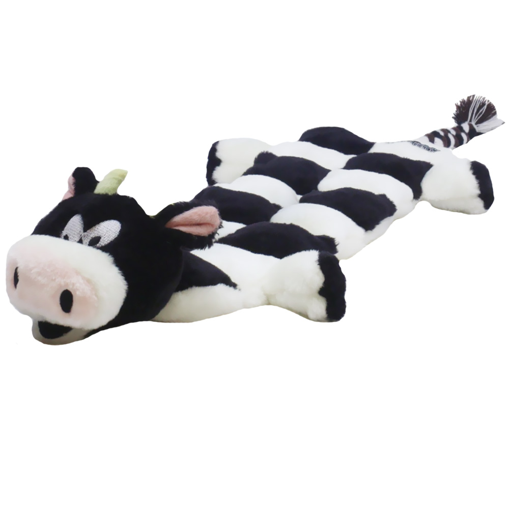 Kyjen Long Body Squeaker Mat - Large Cow