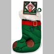 Kyjen Plush Puppies Holiday Stocking - Green