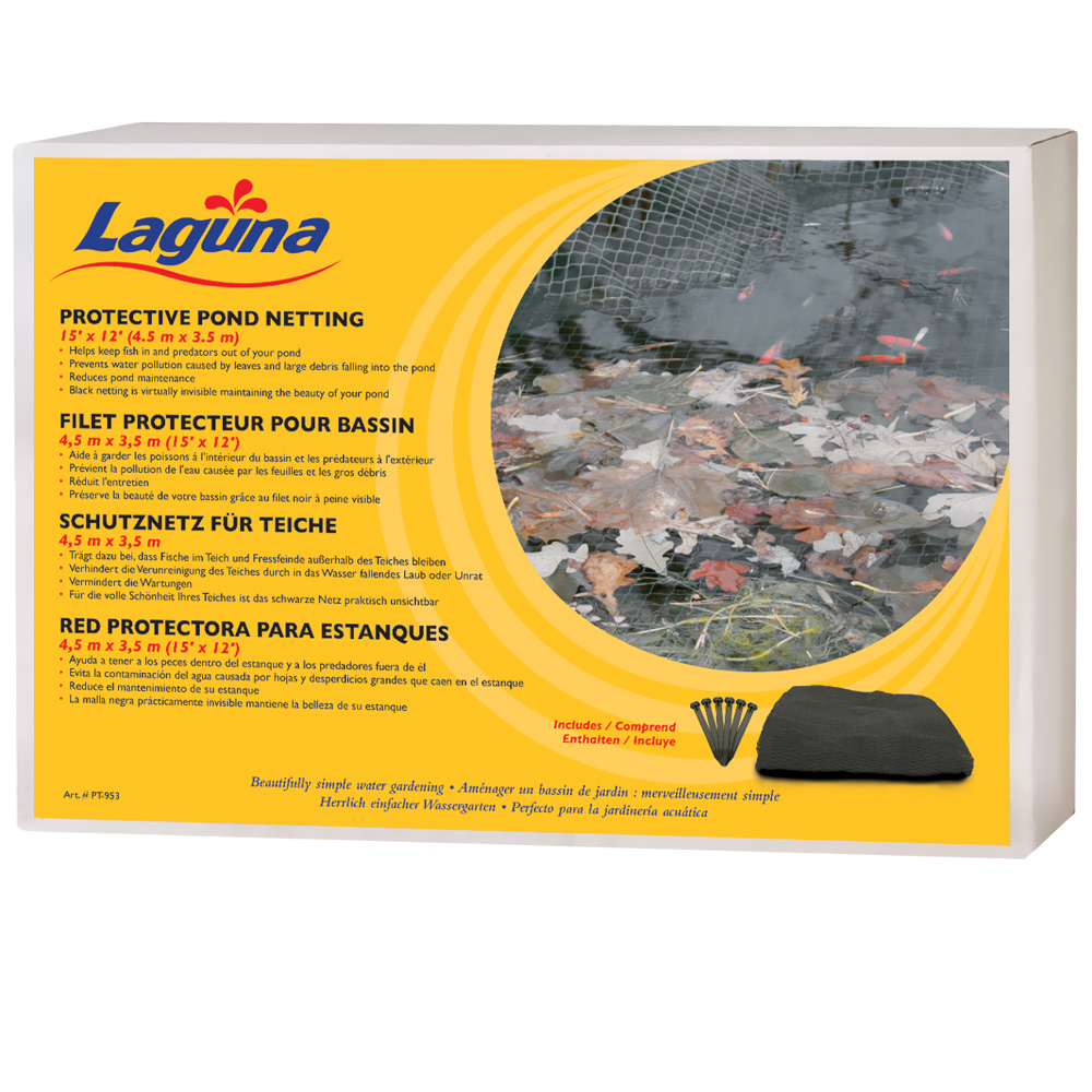 Pond Netting With Stakes By Laguna 15 39 X12 39 Black
