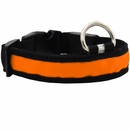 LED Safety Electric Glow Collar - Orange (X-Large)