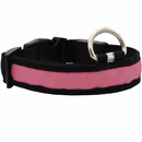 LED Safety Electric Glow Collar - Pink (Medium)
