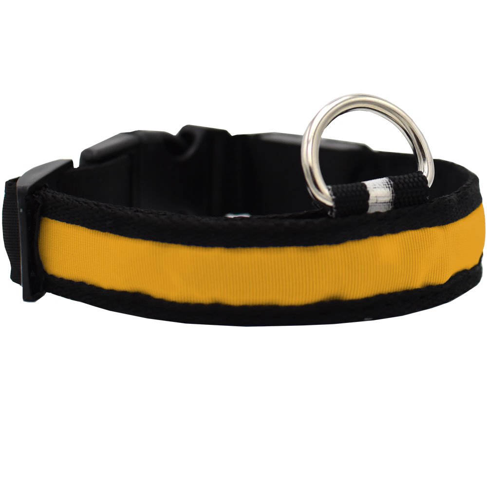 LED Safety Electric Glow Collar - Yellow (X-Large)