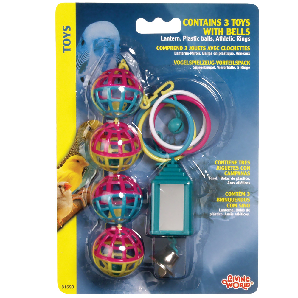 Living World 3 Toy Assortment with Bells