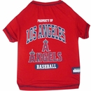 Los Angeles Angels Dog Tee Shirts