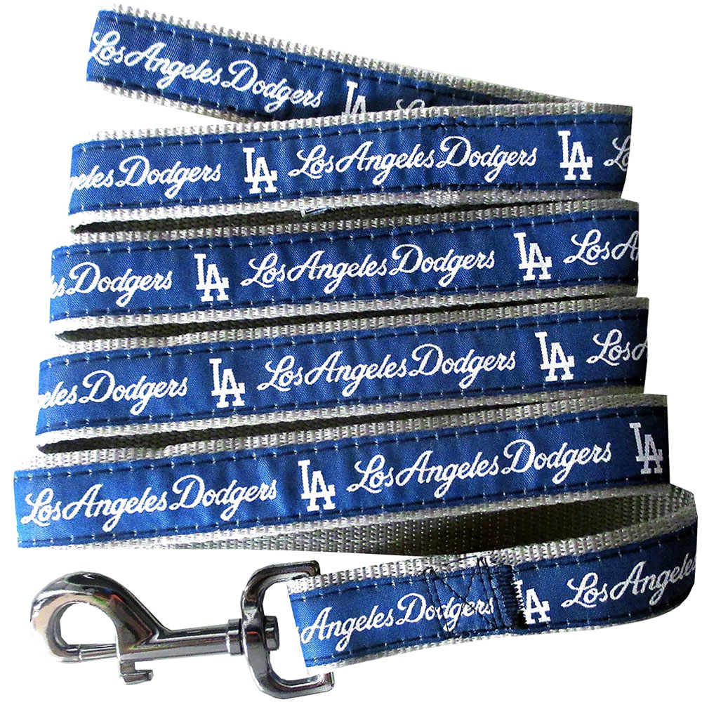 Los Angeles Dodgers Dog Leash - Ribbon
