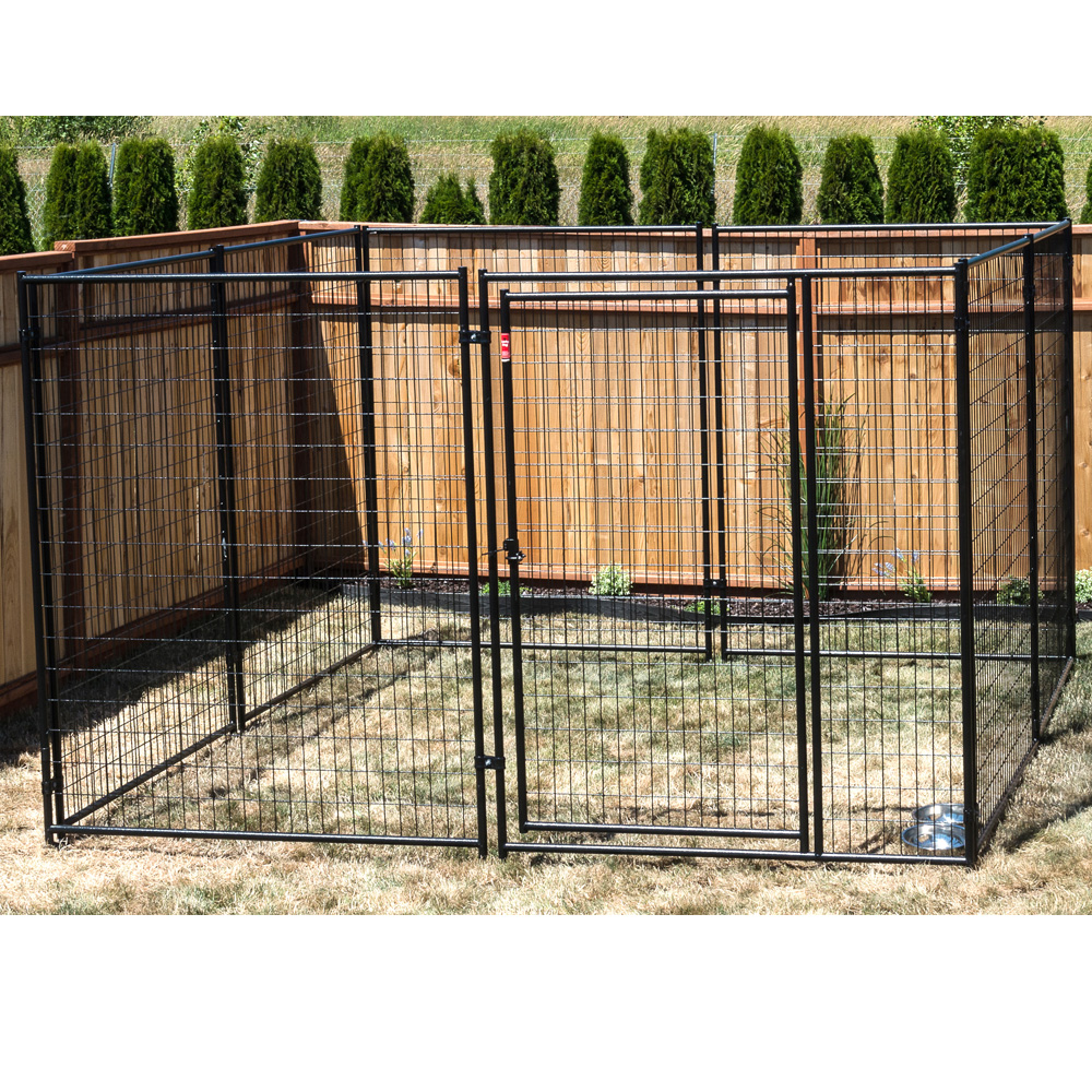 Lucky dogtm modular kennel welded wire kit 639h x 1039w x for Dog kennel systems