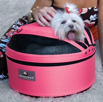 Meowme SleepyPod Mobile Pet Bed - Blossom Pink (Medium)