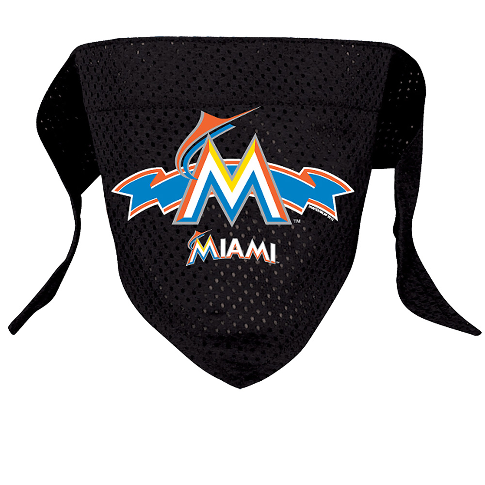 Miami Marlins Dog Bandana - Large