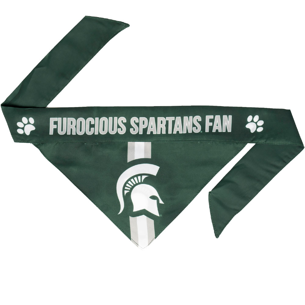 Michigan State Dog Bandana - Tie On (Large)