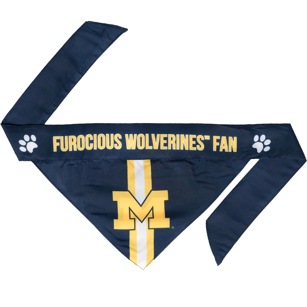 Michigan Wolverines Dog Bandana - Tie On (Small)