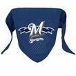 Milwaukee Brewers Dog Bandana - Large