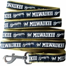 Milwaukee Brewers Dog Leash - Ribbon