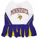 Minnesota Vikings Cheerleader Dog Dress - Medium