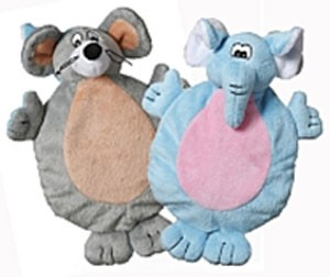 Multipet 2-Faced Animals Elephant/Mouse