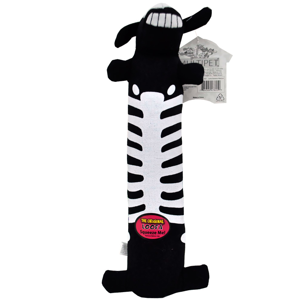 "Multipet Halloween Medium Loofa 12"" - Skeleton"