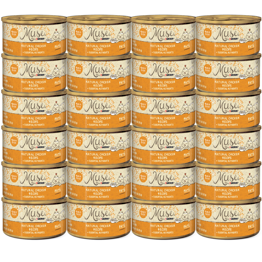 Muse Natural Chicken Cat Food Pate (24x3oz)