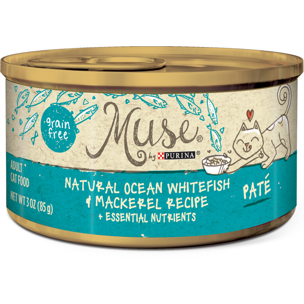 Muse Natural Ocean Whitefish & Mackerel Cat Food Pate - Single