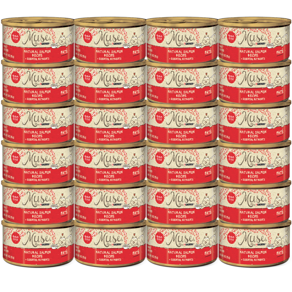 Muse Natural Salmon Cat Food Pate (24x3oz)