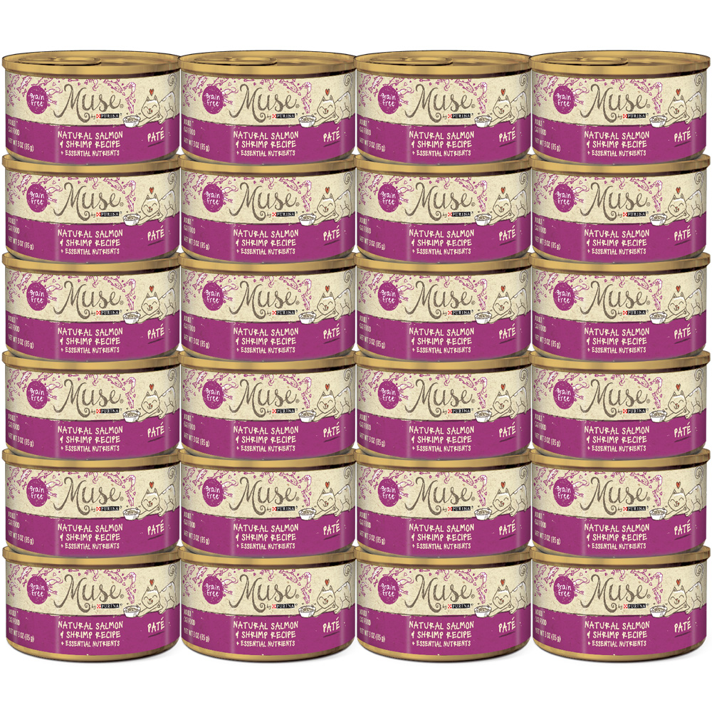 Muse Natural Salmon & Shrimp Cat Food Pate (24x3oz)