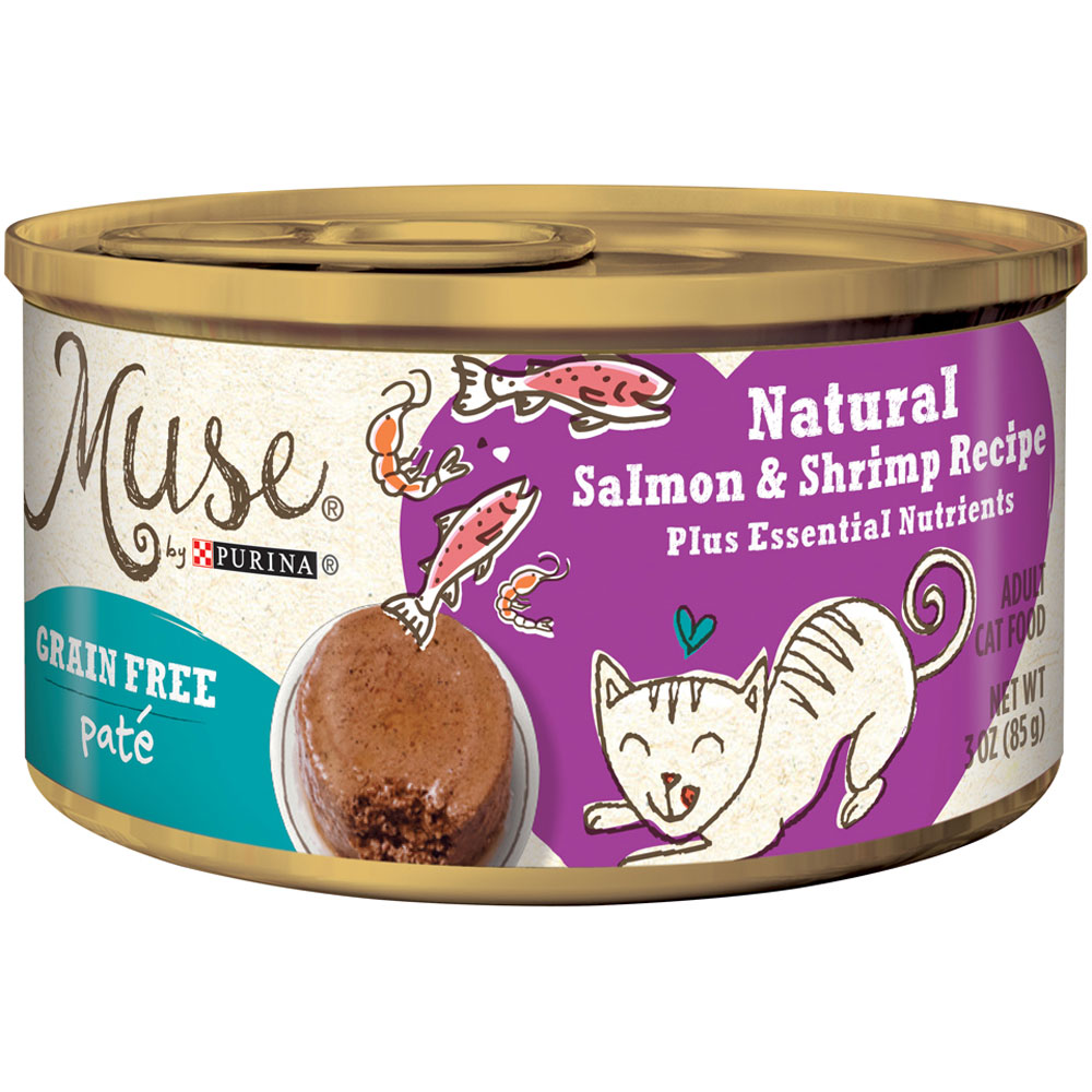 Muse Natural Salmon & Shrimp Cat Food Pate - Single