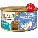 Muse Natural Turkey & Spinach Cat Food Pate (24x3oz)