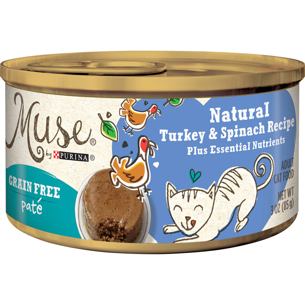 Muse Natural Turkey & Spinach Cat Food Pate - Single