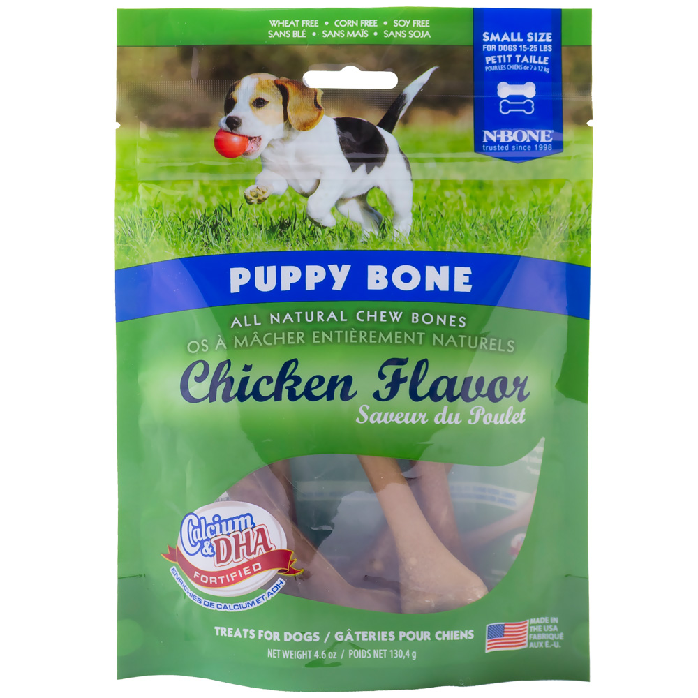 N-Bone Puppy Bone Chicken Flavor - Small (6 Pack)