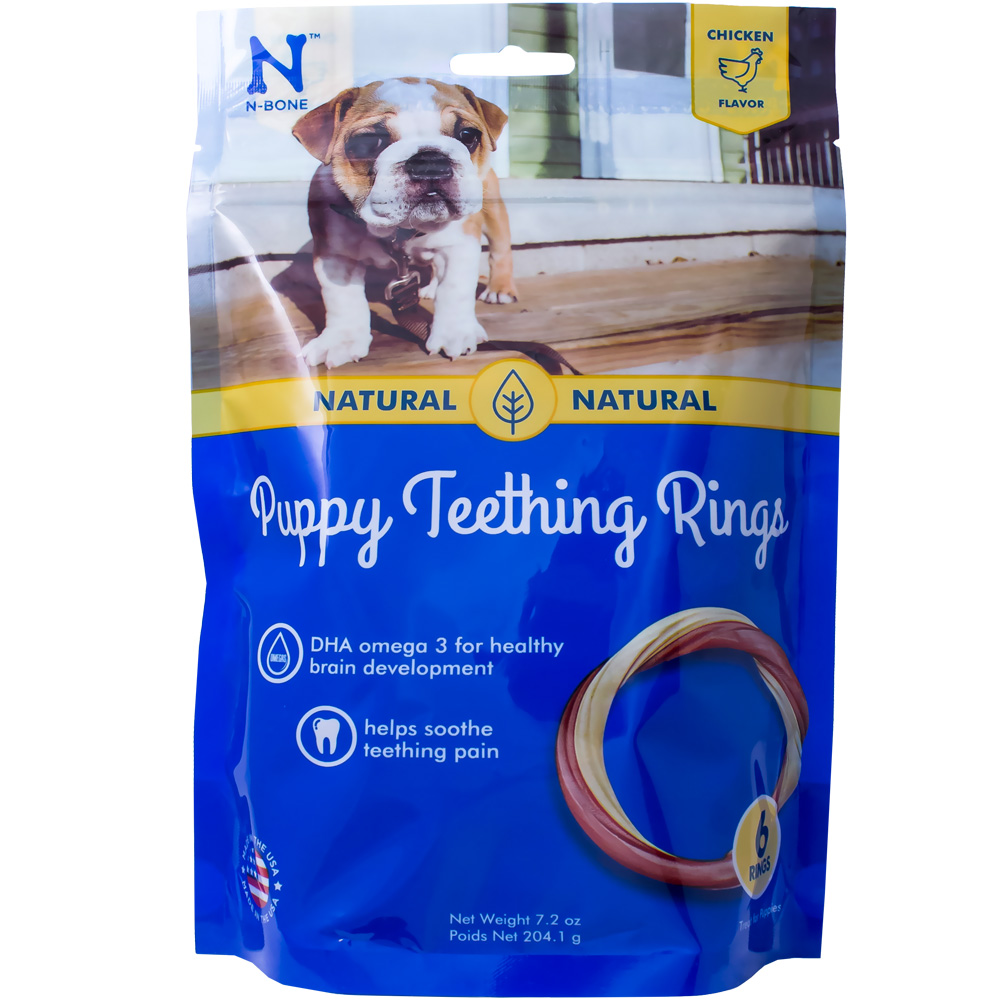N-Bone Puppy Teething Ring Chicken Flavor - 6 Pack (7.2 oz)