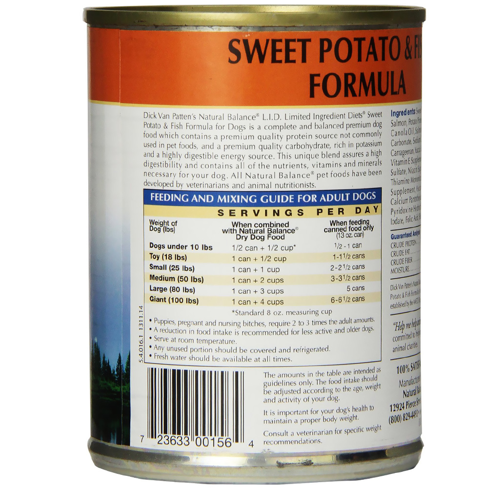 Dog Food Limited Ingredient Fish And Sweet Potato