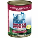Natural Balance Limited Ingredient Diets - Wild Boar & Brown Rice (13 oz Can)