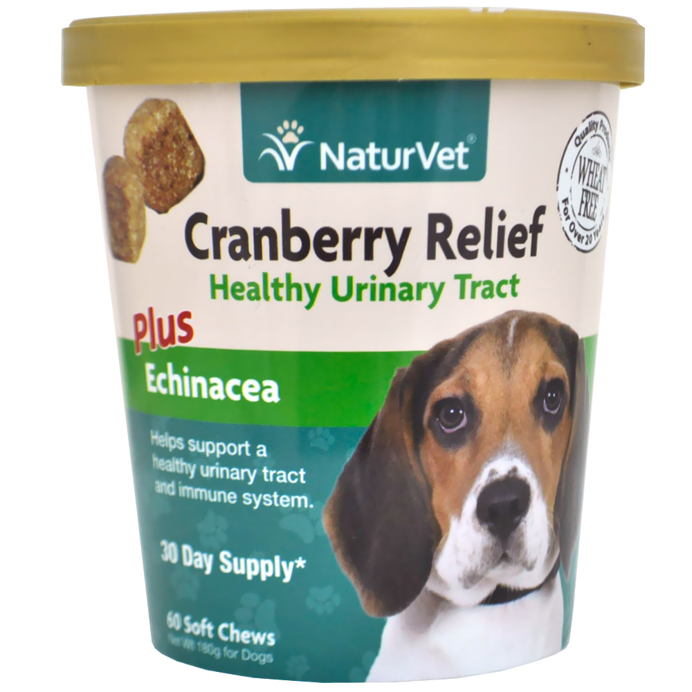 NaturVet Cranberry Relief Healthy Urinary Tract Plus Echinacea (60 Soft Chews)